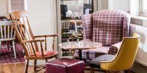 Cosy corner of armchairs