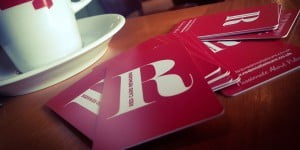 Red Card loyalty cards on pub table